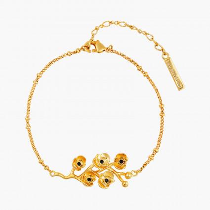 Bracelets Fins Bracelet Fin Branche Orchidées Flamboyantes Au Cœur De Cristal Taillé95,00€ AOOC202/1Les Néréides