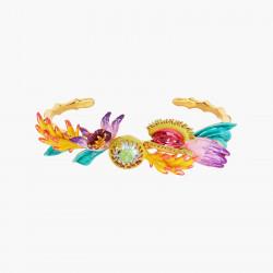 Bracelets Jonc Bracelet jonc bouquet tropical et pierre de verre facetté220,00€ AOOC206/1Les Néréides