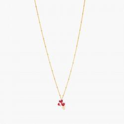 Colliers Pendentifs Collier pendentif orchidée papillon et pierre rose90,00€ AOOC302/1Les Néréides