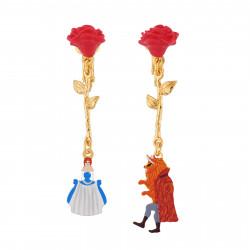 Boucles D'oreilles Boucles D'oreilles Clip Asymétriques Roses Rouges Et Pampilles La Belle Et La Bête60,00€ AIBE106C/1N2 by ...