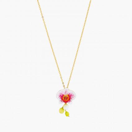 Colliers Pendentifs Collier pendentif orchidée éléphant et cœur en cristal taillé130,00€ AOOC304/1Les Néréides