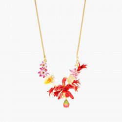 Collar Pechera Orquídeas...