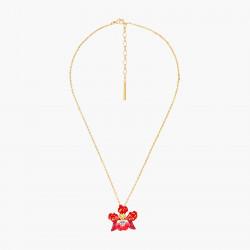 Colliers Pendentifs Collier pendentif fleur d'orchidée exotique et cristal taillé130,00€ AOOC306/1Les Néréides