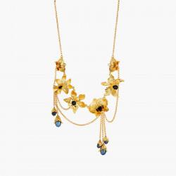 Colliers Plastrons Collier plastron orchidées flamboyantes cristaux taillés et perles noires d'eau douce290,00€ AOOC307/1Les...