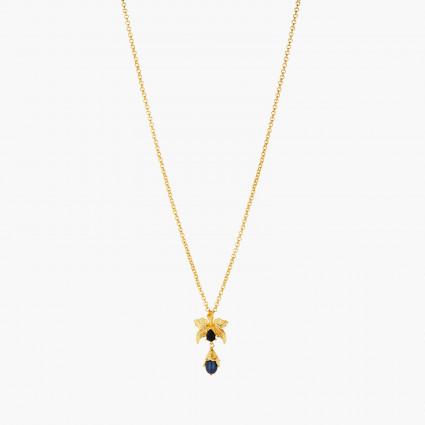 Colliers Plastrons Collier pendentif orchidée flamboyante cristal taillé et perle noire d'eau douce120,00€ AOOC308/1Les Néré...
