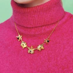Colliers Plastrons Collier plastron orchidées flamboyantes et cristaux taillés210,00€ AOOC312/1Les Néréides