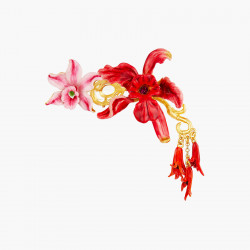 Broche flores de orquídeas...