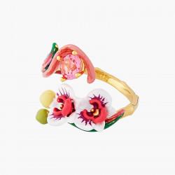 Bagues Ajustables Bague ajustable orchidée papillon et pierre rose90,00€ AOOC601/1Les Néréides
