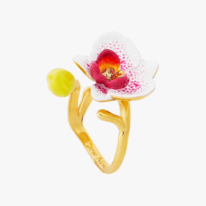 Bagues Ajustables Bague ajustable orchidée exotique et cristal taillé120,00€ AOOC603/1Les Néréides
