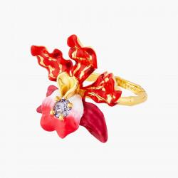 Bagues Cocktail Bague cocktail fleur d'orchidée exotique et cristal taillé130,00€ AOOC604/1Les Néréides