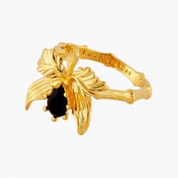 Bagues Ajustables Bague ajustable orchidée flamboyante et pierre de verre facetté90,00€ AOOC605/1Les Néréides