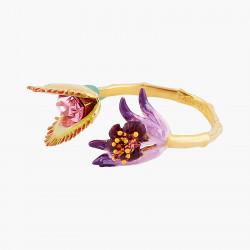 Bagues Ajustables Bague ajustable fleur tropicale et pierre de verre facetté rose110,00€ AOOC606/1Les Néréides
