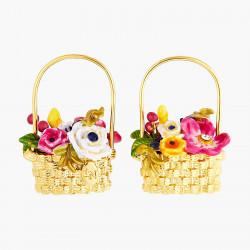 Orchard basket post earrings