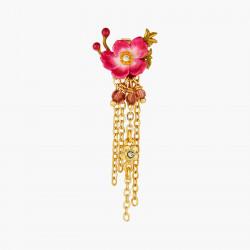 Boucles D'oreilles Pendantes Boucles d'oreilles pendantes tiges fleur de zinnia et grain de raisin cardinal110,00€ AOPJ105T/...