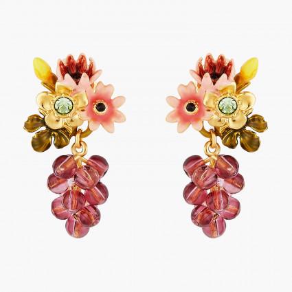 Boucles D'oreilles Pendantes Boucles d'oreilles pendantes tiges fleurs romantiques et grappe de raisin cardinal140,00€ AOPJ1...