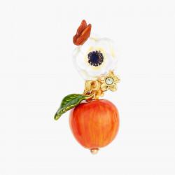 Boucles D'oreilles Clip Boucles D'oreilles Clip Fleur De Pavot Blanc, Papillon Et Pomme Croquante130,00€ AOPJ108C/1Les Néréides