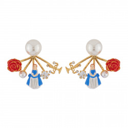 White Pearl Earrings With...