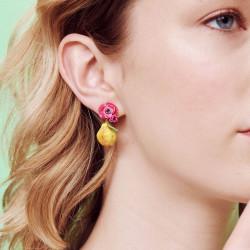 Boucles D'oreilles Clip Boucles D'oreilles Clip Fleur De Coquelicot Rose Et Poire Fondante150,00€ AOPJ109C/1Les Néréides