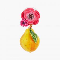 Boucles D'oreilles Pendantes Boucles d'oreilles tiges fleur de coquelicot rose et poire fondante150,00€ AOPJ109T/1Les Néréides