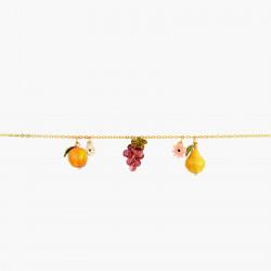 Bracelets Charms Bracelet Charm's Fruits Du Verger Et Fleurs Romantiques150,00€ AOPJ201/1Les Néréides