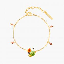 Bracelets Charms Bracelet fin pierre de verre facetté et fleurs de pavot90,00€ AOPJ203/1Les Néréides
