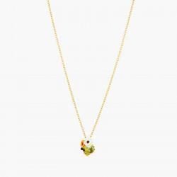 Colliers Pendentifs Collier pendentif pierre de verre facetté et fleurs de pavot80,00€ AOPJ305/1Les Néréides