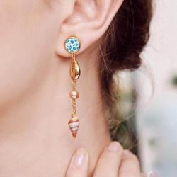 Boucles D'oreilles Pendantes Boucles d'oreilles pendantes tiges perles, nacres et coquillages140,00€ AOGL109T/1Les Néréides