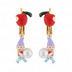 Boucles D'oreilles Originales Boucles d'oreilles clip petite pomme, nain et perle50,00€ AHBN118C/1N2 by Les Néréides