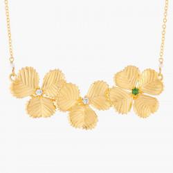 Three Clovers Collar Necklace