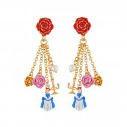 Boucles D'oreilles Boucles D'oreilles Rose Rouge Et Pampilles La Belle, Fleurs, Perle Et Chandelier70,00€ AIBE121T/1N2 by Le...