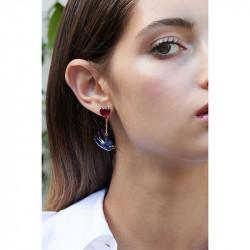 Boucles D'oreilles Pendantes Boucles D'oreilles Tiges Asymétriques Hirondelle Et Son Nid150,00€ ALLA102T/1Les Néréides