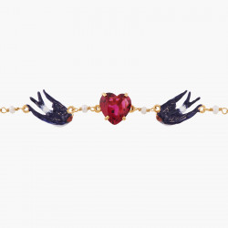 Bracelets Fins Bracelet Chaîne Hirondelle Et Cœur100,00€ ALLA202/1Les Néréides