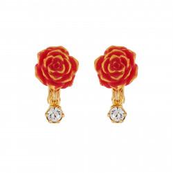 Pendientes Clip Rosa Roja