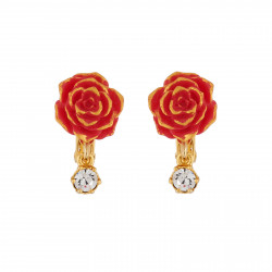 Red Rose Clip-on Earrings