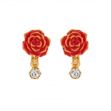 Boucles D'oreilles Boucles D'oreilles Clip Rose Rouge25,00€ AIBE123C/1N2 by Les Néréides