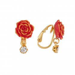 Boucles D'oreilles Boucles D'oreilles Clip Rose Rouge