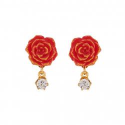 Boucles D'oreilles Boucles D'oreilles Rose Rouge