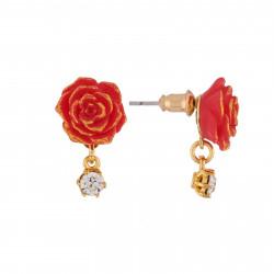 Boucles D'oreilles Boucles D'oreilles Rose Rouge25,00€ AIBE123T/1N2 by Les Néréides