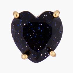 Boucles D'oreilles Tiges Boucles d'oreilles tiges pierre cœur la diamantine bleu nuit pailleté50,00€ AMLD145T/1Les Néréides
