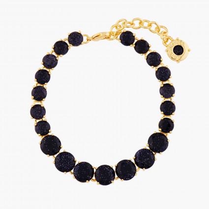 Bracelets Fins Bracelet Luxe Un Rang La Diamantine Bleu Nuit Pailleté130,00€ AMLD252/1Les Néréides