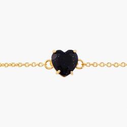 Bracelets Fins Bracelet Fin Pierre Cœur La Diamantine Bleu Nuit Pailleté50,00€ AMLD253/1Les Néréides