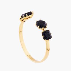 Bracelets Jonc Bracelet Jonc 4 Pierres La Diamantine Bleu Nuit Pailleté110,00€ AMLD254/1Les Néréides