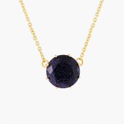 Colliers Pendentifs Collier Pendentif Pierre Ronde La Diamantine Bleu Nuit Pailleté60,00€ AMLD301/1Les Néréides