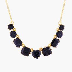 Colliers Fins Collier fin 9 pierres la diamantine bleu nuit pailleté120,00€ AMLD318/1Les Néréides