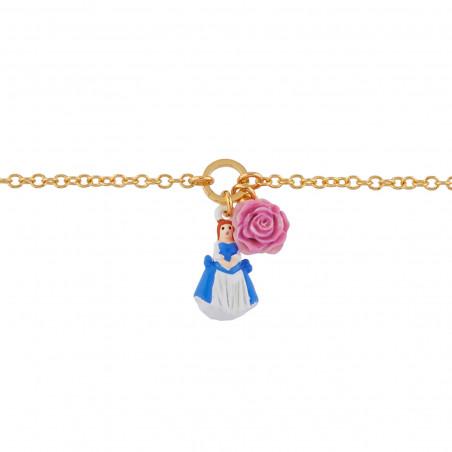 Bracelet Camée sur double rang de perles blanches