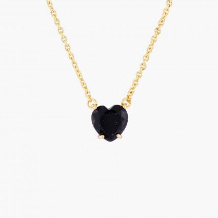 Colliers Pendentifs Collier pendentif pierre cœur la diamantine bleu nuit pailleté50,00€ AMLD353/1Les Néréides