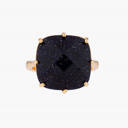 Bague Solitaire Bague solitaire pierre carré la diamantine bleu nuit pailleté60,00€ AMLD602/1Les Néréides