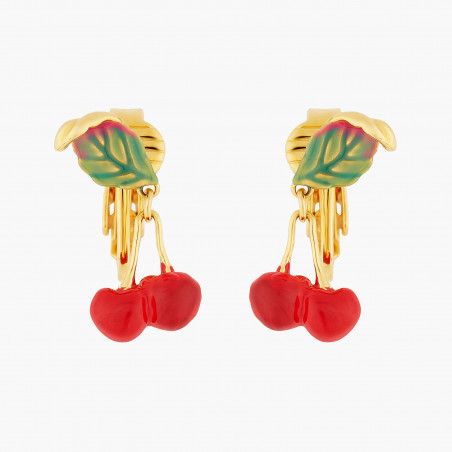 Egyptian cat on stone and flowers earrings