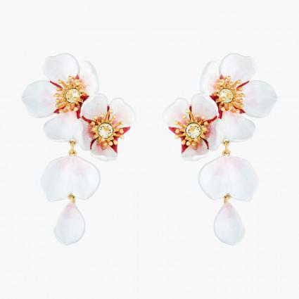 Boucles D'oreilles Pendantes Boucles d'oreilles pendantes tiges fleurs blanches de cerisier220,00€ ANHA109T/1Les Néréides