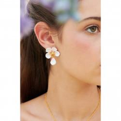 Boucles D'oreilles Pendantes Boucles d'oreilles tiges fleur blanche de cerisier130,00€ ANHA110T/1Les Néréides